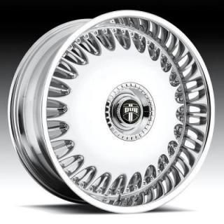 DUB Billionaire Wheel SET 24x9 5 Chrome Rims RWD 5 6 LUG Wheels 24inch