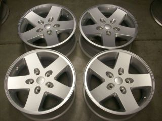 17 Jeep Wrangler Rubicon Factory Silver Wheels Rims 4