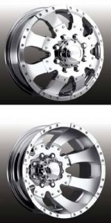 Ultra Type 023 Dually Wheels 17x6 5 Chr 8x6 5 4 Wheels Caps and Lugs