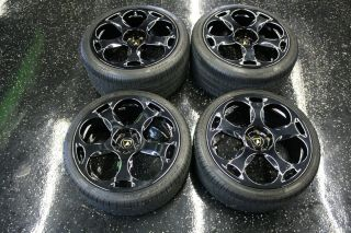 Lamborghini Wheels Tires Black 295 30 2R19 5 Lug