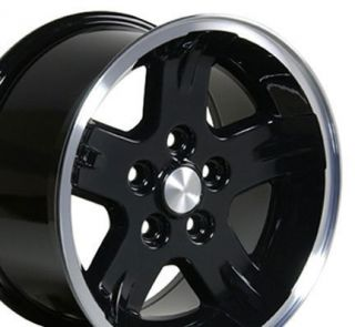15 Rims Fit Jeep Wrangler Wheels Black Lip Set