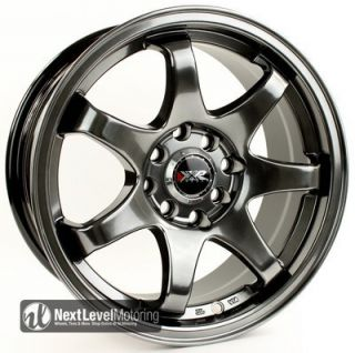 4x100 4x114 3 25 Chromium Black Wheels Rims Civic Integra Yaris