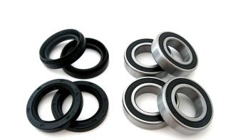 Both Front Wheel Bearings Seals Kit Yamaha Big Bear YFM400 4x4 2000