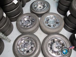 08 09 Hummer Factory 20 Chrome Wheels Tires Rims 6310 9596680
