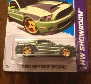 2013 Hot Wheels SUPER Treasure Hunt 10 FORD SHELBY GT500 SUPERSNAKE RR