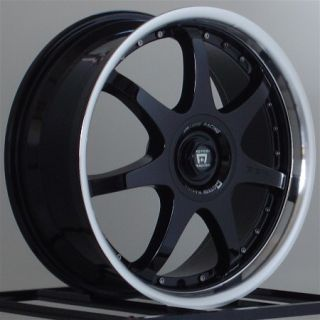 16 inch Wheels Rims Motegi Racing FF7 Gloss Black 5 Lug