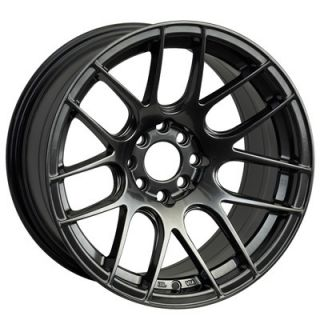 17 XXR 530 CHROMIUM BLACK RIMS WHEELS 17x8.25 +25 4x100 SCION XB MAZDA