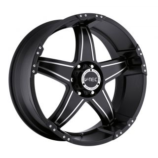 20 inch V Tec Wizard Black Wheels Rims 5x150 35 Toyota Tundra Sequoia