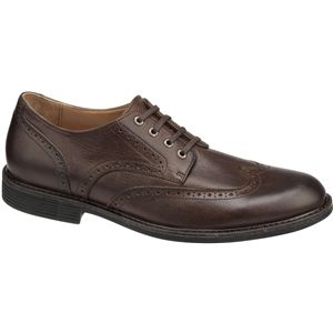 Johnston & Murphy Mens Cardell Wing Tip Mahogany Shoes   20 4238