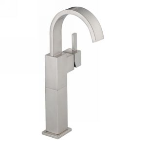 Delta Faucet 753LF SS Vero Single Handle Lavatory Faucet with Riser