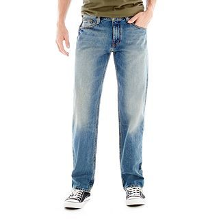 ARIZONA Original Straight Medium Wash Jeans, Medium Whisker, Mens