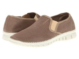 Deer Stags Dynasty Womens Slip on Shoes (Taupe)