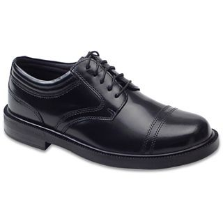 Deer Stags Telegraph Mens Oxford Shoes, Black
