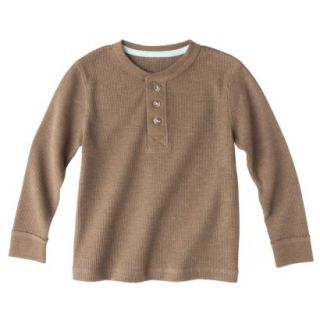 Cherokee Infant Toddler Boys Long Sleeve Thermal Henley Shirt   Mud Hut 2T