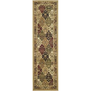 Lyndhurst Collection Multicolor/ Beige Runner (23 X 14)