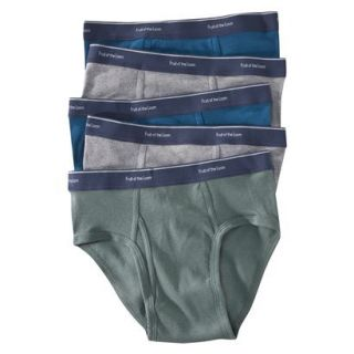 Fruit of the Loom Mens Low Rise Brief 5PK   Assorted Colors L