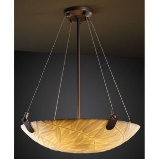 Justice Design Group Porcelina 3 Light Inverted Pendant PNA 9621 Metal Finish