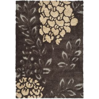 Safavieh Florida Shag Dark Brown/Gray Rug SG456 2880 Rug Size 8 x 10