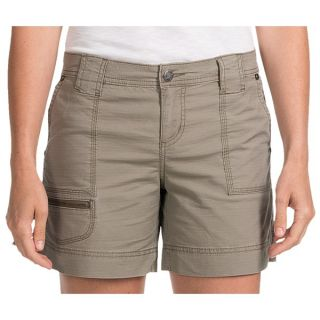 Woolrich Canoe Creek Hiking Shorts   UPF 50+  Stretch Cotton (For Women)   SHALE (14 )