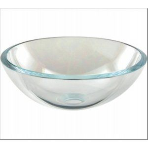 Aquabrass AB CC139 Crystal Clear Glass Round Crystal Clear Tempered Glass Basin