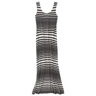 Merona Petites Sleeveless Maxi Dress   Black/Cream XLP