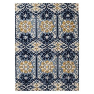 Threshold Indoor/Outdoor Mosaic Area Rug   Blue/Green (4x6)