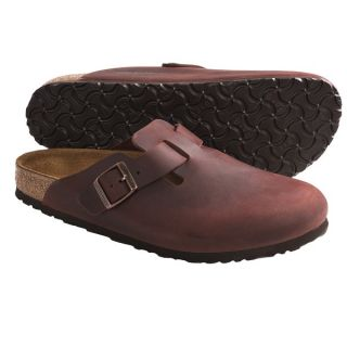 Birkenstock Boston Clogs   Leather (For Men and Women)   WAXY LEATHER HENNA (38 )