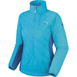 Mountain Hardwear Zonal Pullover Jacket   Insulated (For Women)   HOT ROD/THUNDERBIRD RED (S )