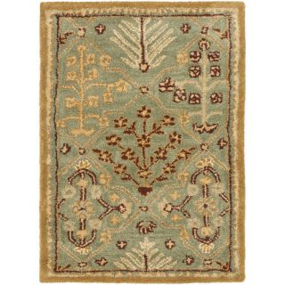 Safavieh Antiquities Light Blue / Gold AT613A Rug Size Runner 23 x 14