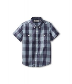Ben Sherman Kids Rodney S/S Shirt Boys Short Sleeve Button Up (Gray)