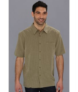 Quiksilver Waterman Centinela 2 S/S Shirt Mens Short Sleeve Button Up (Green)