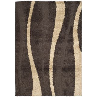 Safavieh Florida Shag Dark Brown/Beige Rug SG451 2813 Rug Size Runner 23 x 7