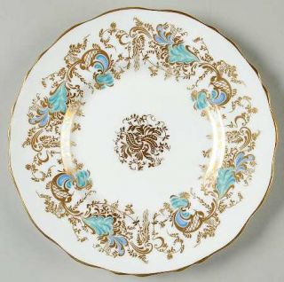 Royal Cauldon Gainsborough (White W/Blue & Gold) Bread & Butter Plate, Fine Chin