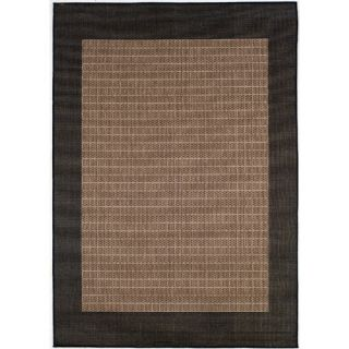 Couristan Recife Checkered Field Black Cocoa Rug 1005/2500X