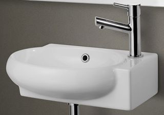 Alfi Brand AB107 Bathroom Sink, Small Wall Mounted Porcelain Basin White