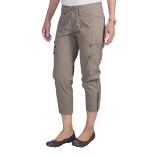 Woolrich Canoe Creek Hiking Capris   UPF 50+  Stretch Cotton (For Women)   SHALE (12 )