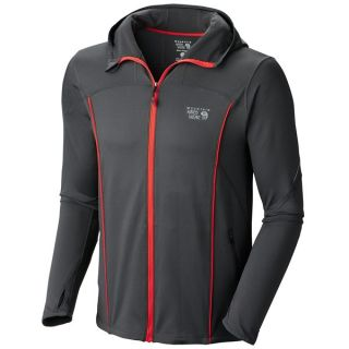 Mountain Hardwear Super Power Jacket (For Men)   SHARK/RED STRIPE (XL )