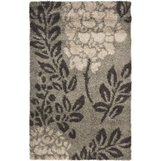 Safavieh Florida Shag Smoke/Dark Brown Rug SG456 7928 Rug Size 33 x 53