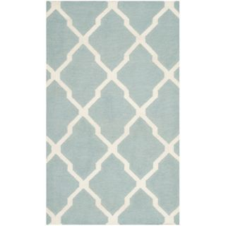 Safavieh Dhurries Light Blue/Ivory Rug DHU634C Rug Size 3 x 5