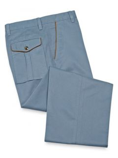 Paul Fredrick Mens Cotton Twill Flat Front Pants