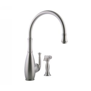 Meridian Faucets 2066060 Universal Single Lever Kitchen Faucet with Side Spray