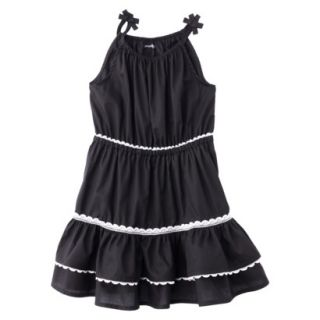 Genuine Kids from OshKosh Infant Toddler Girls Woven Dress   Black Tie 4T