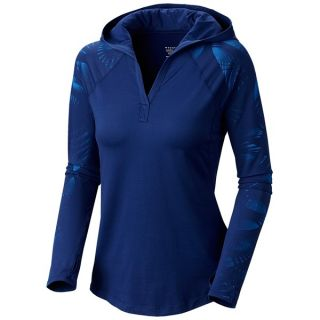 Mountain Hardwear Whipped Butter Jersey Hooded Shirt   UPF 50  V Neck  Long Sleeve (For Women)   BLACK (S )