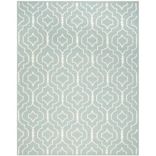 Safavieh Dhurries Light Blue/Ivory Rug DHU637C Rug Size 8 x 10