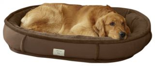 Faux fur Ultimate Wraparound Dog Bed With Memory Foam / Small Dogs Up To 35 Lbs.