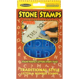 Milestones Traditional Style Letters and Numbers Stone Stamps