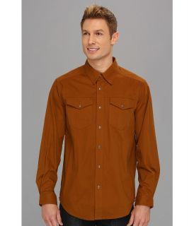ExOfficio Ansel Canvas Long Sleeve Shirt Mens Long Sleeve Button Up (Brown)