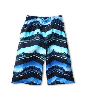 Nike Kids Chevron Palm Volley Short Boys Swimwear (Blue)