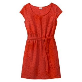 Merona Womens Lace Sheath Dress   Orange Zing   M