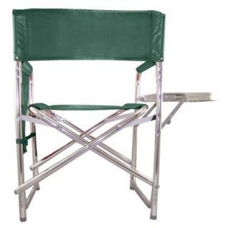 Picnic Time Sports Chair with Table and Pockets   Hunter Green